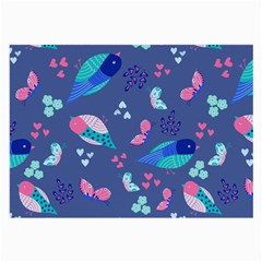 Birds And Butterflies Large Glasses Cloth (2 Side)