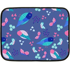 Birds And Butterflies Fleece Blanket (mini)
