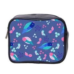 Birds And Butterflies Mini Toiletries Bag 2 Side