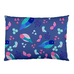 Birds And Butterflies Pillow Case (two Sides)