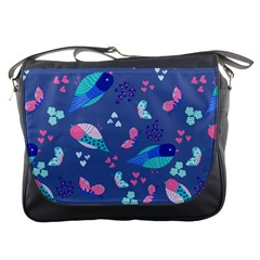 Birds And Butterflies Messenger Bags