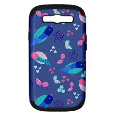 Birds And Butterflies Samsung Galaxy S Iii Hardshell Case (pc+silicone)
