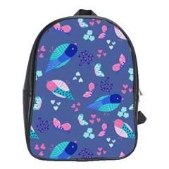 Birds And Butterflies School Bags (xl)