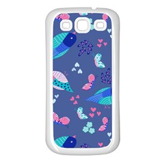 Birds And Butterflies Samsung Galaxy S3 Back Case (white)
