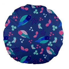 Birds And Butterflies Large 18  Premium Flano Round Cushions