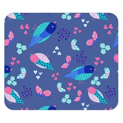 Birds And Butterflies Double Sided Flano Blanket (small)