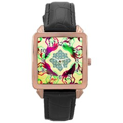 Several Wolves Album Rose Gold Leather Watch