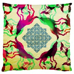 Several Wolves Album Large Flano Cushion Case (two Sides)