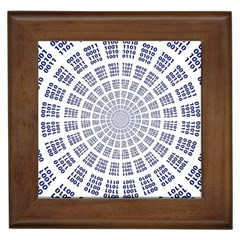 Illustration Binary Null One Figure Abstract Framed Tiles