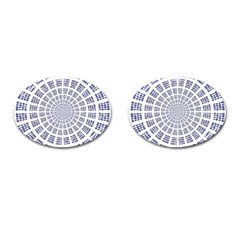 Illustration Binary Null One Figure Abstract Cufflinks (oval)