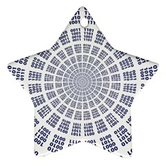 Illustration Binary Null One Figure Abstract Star Ornament (two Sides)