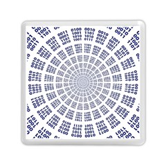 Illustration Binary Null One Figure Abstract Memory Card Reader (square)