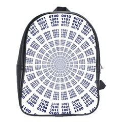 Illustration Binary Null One Figure Abstract School Bags (xl)