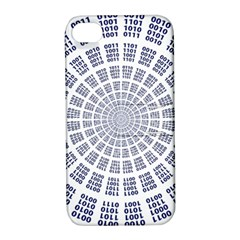 Illustration Binary Null One Figure Abstract Apple Iphone 4/4s Hardshell Case With Stand