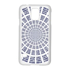 Illustration Binary Null One Figure Abstract Samsung Galaxy S5 Case (white)