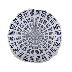 Illustration Binary Null One Figure Abstract Standard 15  Premium Flano Round Cushions