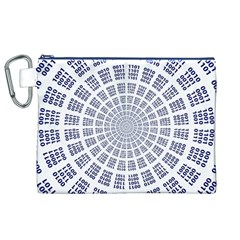 Illustration Binary Null One Figure Abstract Canvas Cosmetic Bag (xl)