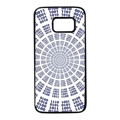 Illustration Binary Null One Figure Abstract Samsung Galaxy S7 Black Seamless Case
