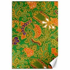 Art Batik The Traditional Fabric Canvas 12  X 18