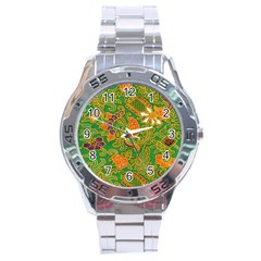 Art Batik The Traditional Fabric Stainless Steel Analogue Watch