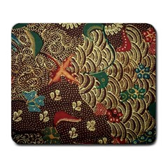 Art Traditional Flower  Batik Pattern Large Mousepads