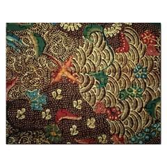 Art Traditional Flower  Batik Pattern Rectangular Jigsaw Puzzl