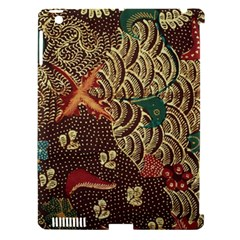 Art Traditional Flower  Batik Pattern Apple Ipad 3/4 Hardshell Case (compatible With Smart Cover)