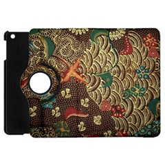 Art Traditional Flower  Batik Pattern Apple Ipad Mini Flip 360 Case