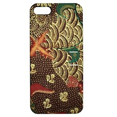 Art Traditional Flower  Batik Pattern Apple Iphone 5 Hardshell Case With Stand