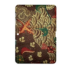 Art Traditional Flower  Batik Pattern Samsung Galaxy Tab 2 (10 1 ) P5100 Hardshell Case