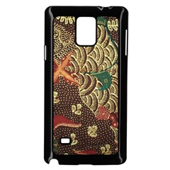 Art Traditional Flower  Batik Pattern Samsung Galaxy Note 4 Case (black)