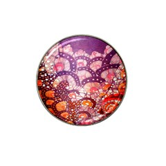 Colorful Art Traditional Batik Pattern Hat Clip Ball Marker (4 Pack)