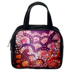 Colorful Art Traditional Batik Pattern Classic Handbags (one Side)