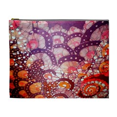 Colorful Art Traditional Batik Pattern Cosmetic Bag (xl)