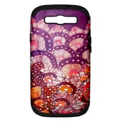Colorful Art Traditional Batik Pattern Samsung Galaxy S Iii Hardshell Case (pc+silicone)
