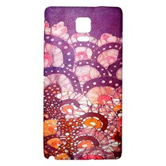 Colorful Art Traditional Batik Pattern Galaxy Note 4 Back Case