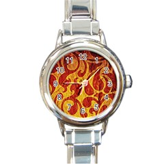 Abstract Pattern Round Italian Charm Watch