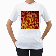 Abstract Pattern Women s T Shirt (white) (two Sided)