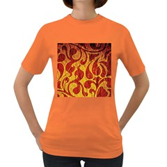 Abstract Pattern Women s Dark T Shirt