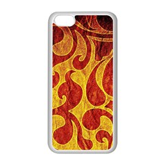 Abstract Pattern Apple Iphone 5c Seamless Case (white)