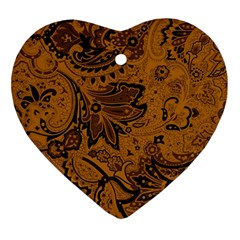 Art Traditional Batik Flower Pattern Ornament (heart)