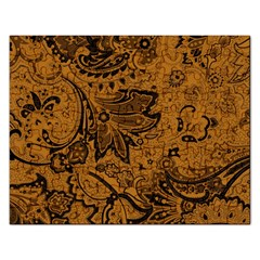 Art Traditional Batik Flower Pattern Rectangular Jigsaw Puzzl
