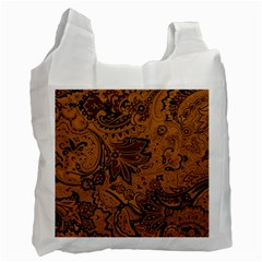 Art Traditional Batik Flower Pattern Recycle Bag (two Side)