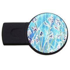 Art Batik Flowers Pattern Usb Flash Drive Round (2 Gb)