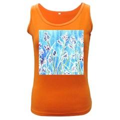Art Batik Flowers Pattern Women s Dark Tank Top