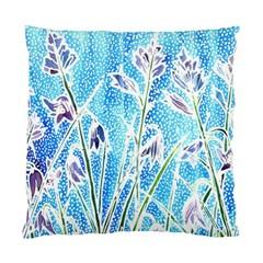 Art Batik Flowers Pattern Standard Cushion Case (one Side)