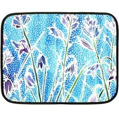 Art Batik Flowers Pattern Fleece Blanket (mini)