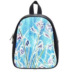Art Batik Flowers Pattern School Bags (small)