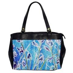 Art Batik Flowers Pattern Office Handbags