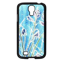 Art Batik Flowers Pattern Samsung Galaxy S4 I9500/ I9505 Case (black)